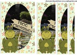Cute Frog Side Stacker Card Front 2
