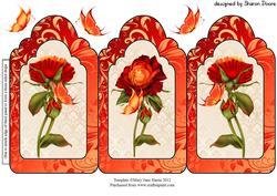 Multi Tonal Roses Trio Card