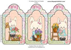 Citrus Garden Bunny Trifold Card