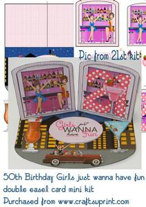 50th Birthday Girls Just Wanna Have Fun Mini Kit