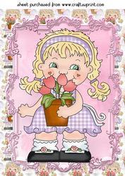 Sweet Flower Girl Topper 2