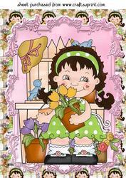 Sweet Flower Girl Topper 4