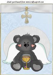 Blue Christian Bear Topper 3