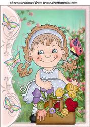 Butterfly Side Flower Girl Topper 1