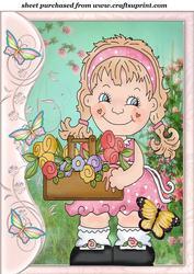 Butterfly Side Flower Girl Topper 4