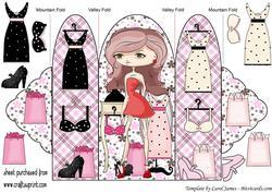 Fashion Girl Tri Fold Card 8