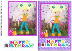 Birthday Girl Playing at Nanas/grandmas Card Front 3