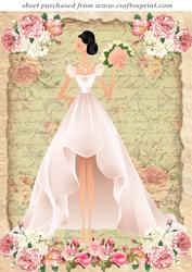 Dark Haired Rose Bride Topper
