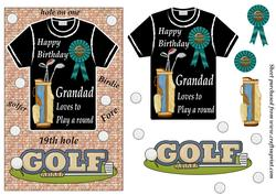 Grandad Birthday Golf Card Front