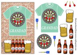 Grandad Beer and Darts T Shirt Card Front