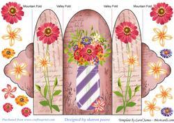 Floral Mason Jar Tri Fold Card 6