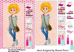Blonde Haired Teenage Girl Window Card Front 3