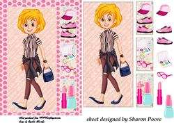 Blonde Haired Teenage Girl Window Card Front 4