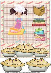 Baking Girl Card Front 2