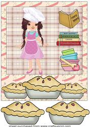 Baking Girl Card Front 5