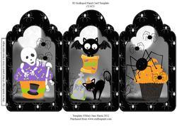 Halloween Cupcakes Tri Fold Card
