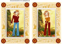 2 Autumn Girl Card Fronts 1