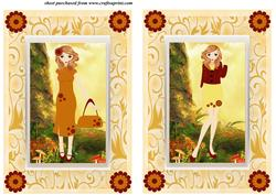 2 Autumn Girl Card Fronts 2