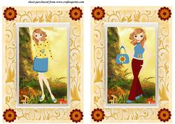 2 Autumn Girl Card Fronts 3