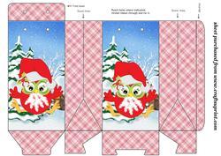 Christmas Owl Pinch Bag 5