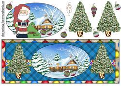 Christmas Message Santa Card Front 4