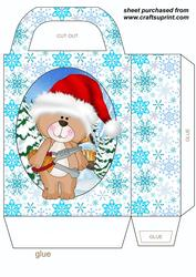 Christmas Under Construction Bear Gift Bag 2