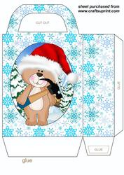 Christmas Under Construction Bear Gift Bag 4