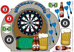Darts and Pool Card Front