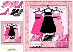 Girly Wardrobe Card Front
