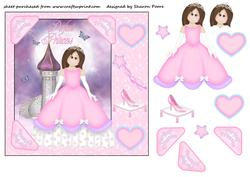 Pink Princess Square Card Front