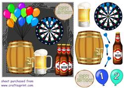 21st Birthday Beet and Darts Card Front