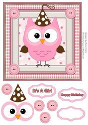 Pinky the Owl Card Front