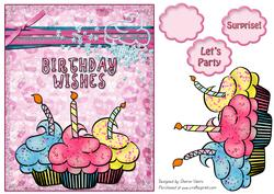 Pink Sparkle Card Front