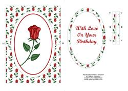 Red Rose Birthday Spinner Card