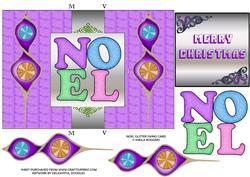 Noel Glitter Swing Card