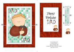 DIY Dad Spinner Card