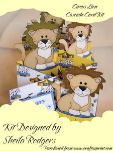 Circus Lion Cascade Card Kit