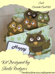 Owls Cascade Card Kit