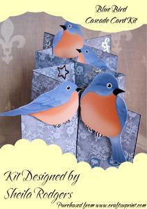 Blue Bird Cascade Card Kit