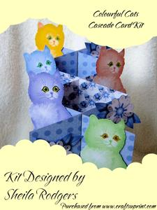 Colourful Cats Cascade Card Kit