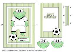 Football Frog Spinner Card