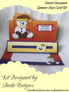 Sunset Snowman Spinner Step Card Kit