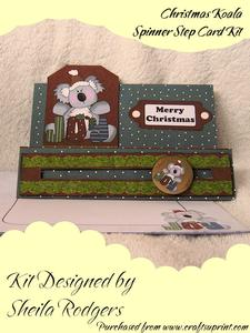 Christmas Koala Spinner Step Card Kit