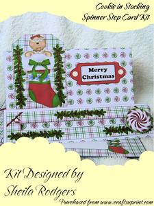 Cookie in Stocking Spinner Step Card Kit