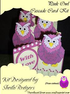 Pink Owl Cascade Card Kit