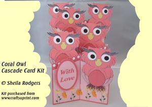 Coral Owl Cascade Card Kit