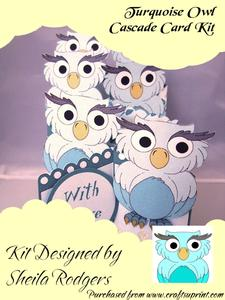 Turquoise Owl Cascade Card Kit