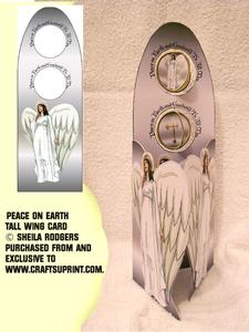 Tall Wing Card - Peace on Earth