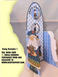 Tall Wing Card - Santy Bumpkin 1