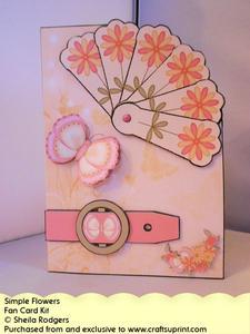 Fan Card - Simple Flowers